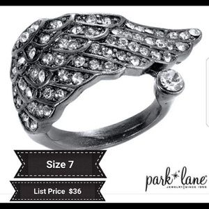 Journey By Park Lane Sz 7 Hematite/Gun Metal Ring